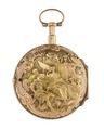 Fickur med boett i guld med figurscen i dekoren, 1700-tal - Hallwylska museet - 110434.tif