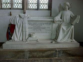 Charles Sackville-Germain, 5th Duke of Dorset - Memorial to the Duke of Dorset in St Peter's Church, Lowick