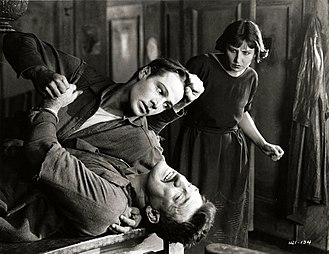 Moran of the Lady Letty - Rudolph Valentino, Walter Long and Dorothy Dalton in a scene from the film.