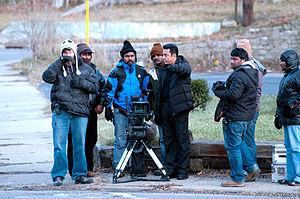 Vishwaroopam - Kamal Haasan, Sanu Varghese and the rest of the crew at the filming of Vishwaroopam