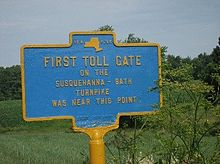 First Toll Gate On The Susquehanna Bath Turnpike Bainbridge Ny