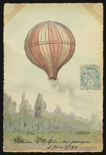 First Montgolfier brothers balloon, 1783
