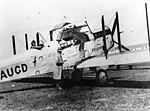 First plane used as an air ambulance flying from Aldingham, Western Queensland (3192429283).jpg