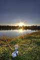 Fishing at Sunset - Secchia River Detention Basin - Campogalliano (MO) Italy - October 29, 2012 - panoramio.jpg