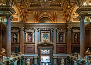 Fitzwilliam Museum - View of one of the museum's entrance halls