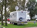 Fixed Satellite Dish, Hymer UK Rally, Marton Mere Holiday Village - geograph.org.uk - 1003392.jpg