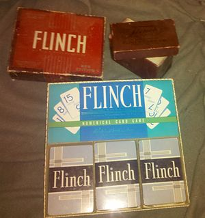 Flinch (card game) - Three different box designs