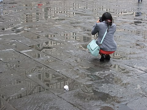 Florence Cathedral reflections after rain