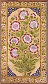 Flowers in 1800 art detail, from- Album page with Stokesia and portrait of Abdul Rahim Khan-e Khanna (6124537863) (cropped).jpg
