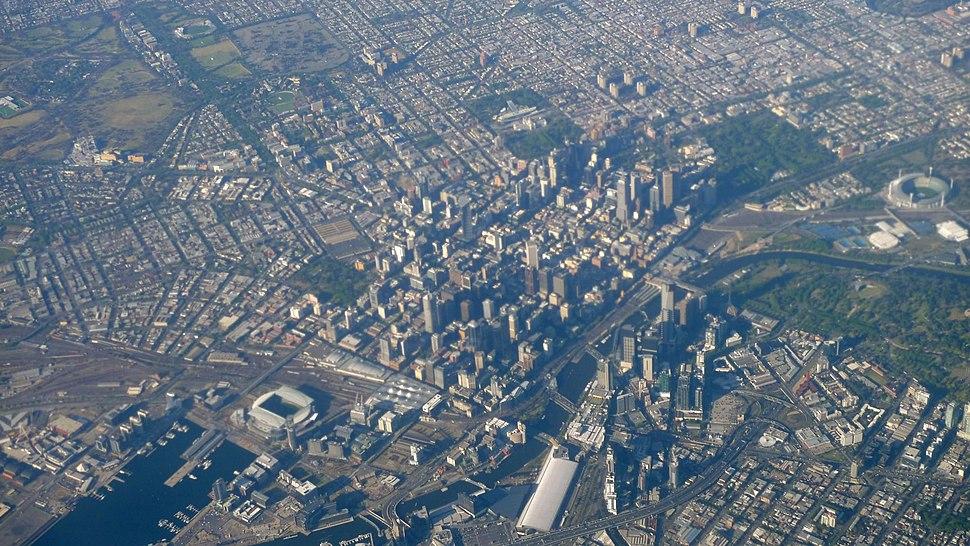 Flying over Melbourne 2