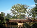 Footbridge crosses the Delaware and Raritan Canal and connects to the Parks Towpath, South Bound Brook, NJ USA Aug 29, 2011 - panoramio.jpg