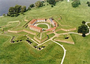 Fort McHenry - Image: Fort Mc Henry Aerial View