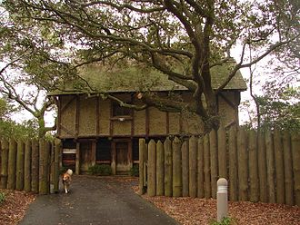 Roanoke Island - Entrance to Fort Raleigh Outdoor Theater near the north end of Roanoke Island