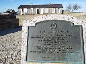 Fort Richardson (Texas) - Image: Fort Richardson Texas Historical Marker