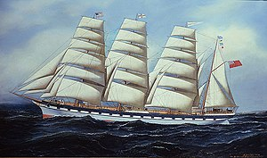 "Antonio Jacobsen - ""The Forteviot,"" 1896, Rehs Galleries, Inc., New York City"