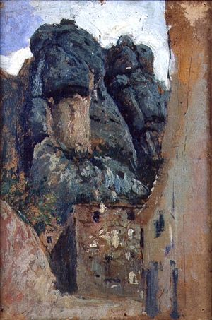 Fortuny Museum - Painting of Montserrat by Marià Fortuny (1838–1874).