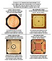Four common game boards known as pichenotte.jpg
