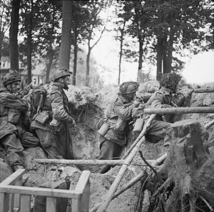 1st Parachute Brigade (United Kingdom) - Men of the 1st Parachute Brigade during the Battle of Arnhem, part of Operation Market Garden, September 1944.