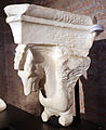 Frammento di capitello con cavalli alati, dall'interno della cella del tempio di marte ultore nel foro di augusto, 2 ac ca. 02.JPG