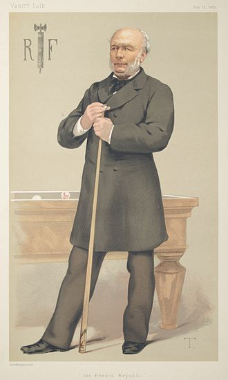 Jules Grévy - A portrait of Grévy as a billiards player from 12 July 1879 issue of Vanity Fair.
