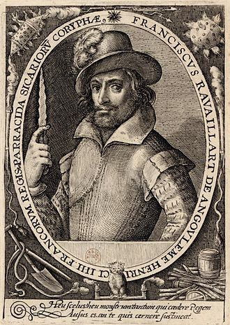François Ravaillac - François Ravaillac brandishing his dagger, in a 17th-century engraving