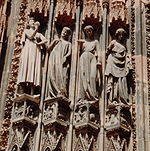 France Strasbourg Cathedral Foolish virgins and tempter