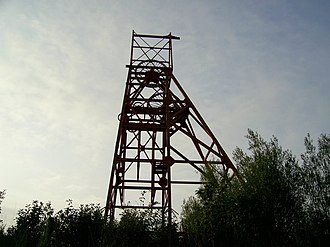 Scotland in the modern era - The headgear at Francis Colliery, Fife