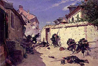 Siege of Metz (1870) - Defence of Metz by the French Army. Painting by Alphonse-Marie-Adolphe de Neuville.