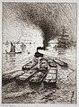 Frank Boggs, Chalands sur la Tamise, vers 1906, Musée d'art et d'histoire de la ville de Meudon.jpg