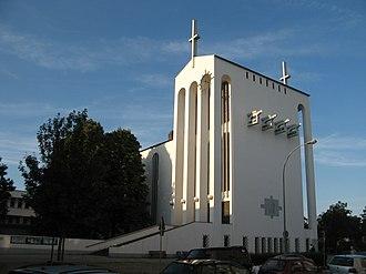 Centre for Christian Meditation and Spirituality of the Diocese of Limburg - Image: Frankfurt heiligkreuzkirche