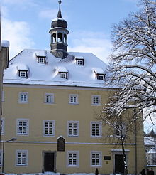 Musiksaal des Jean-Paul-Gymnasiums in Hof, das Jean Paul 1779–1781 besuchte. (Quelle: Wikimedia)