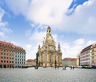 Neumarkt (Dresden) square in Dresden, Germany