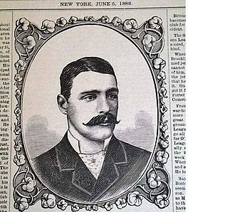 Fred Goldsmith (baseball) - Image: Fred Goldsmith article and sketch in the Official Baseball Record June 5 1886
