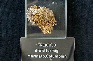 Freigold (drahtförmig) - Marmato, Columbien.jpg