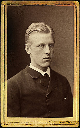 Fridtjof Nansen - Nansen as a student in Christiania (1880, age 19)
