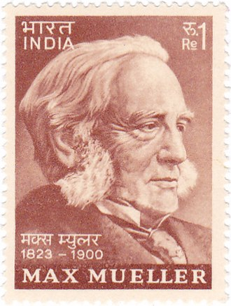 Max Müller - Müller on a 1974 stamp of India