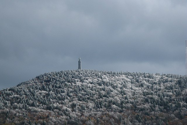 Frost on Mt Greylock, from Notch Rd, Adams MA