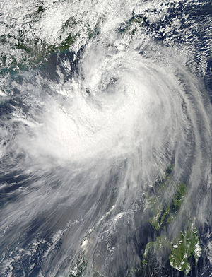 Timeline of the 2014 Pacific typhoon season - Tropical Storm Fung-wong at peak intensity on September 20