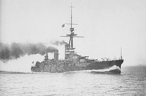 Japanese battleship Fusō - Fusō on her sea trials, 24 August 1915