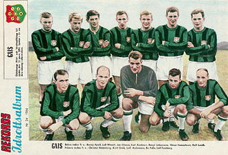GAIS - The newly promoted 1966 GAIS squad who helped reestablish the club in Allsvenskan during the late sixties.