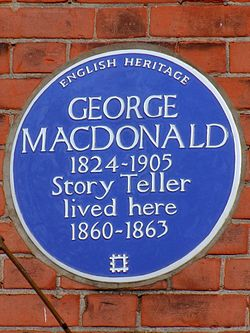 George macdonald 1824 1905 story teller lived here 1860 1863