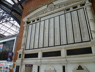 Liverpool Street station - The 1922 Great Eastern Railway War Memorial