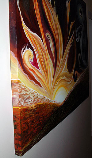Gallery wrap - Painting on a gallery-wrapped canvas