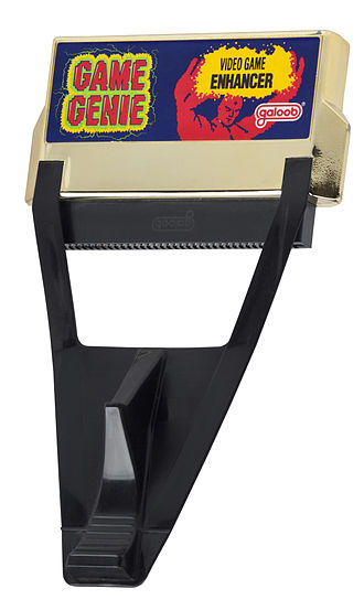 Cheating in video games - The Game Genie for the NES allows a player to insert codes to edit a game's memory values.