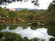 Garden in nara pond water1