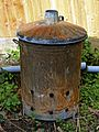 Garden waste burner bin in Nuthurst, West Sussex, England 01.jpg