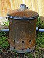 Garden waste burner bin in Nuthurst, West Sussex, England 01.jpg