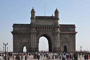 Gateway of India in Mumbai, India.