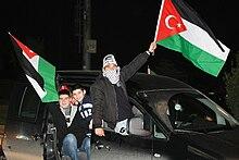 Bandiera della solidarietà Turchia-Gaza, 2 febbraio 2009