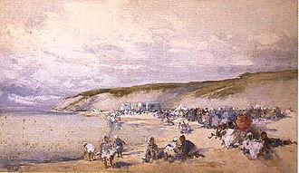 George Charles Haité - Cliffs (1900), watercolour by G. C. Haité